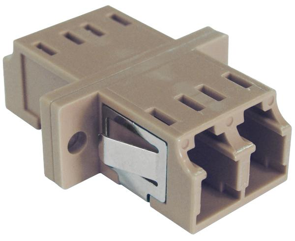 LC Duplex MultiMode Fiber Adapter/Coupler with SC Simplex Footprint