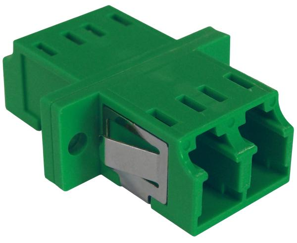 LC Duplex Single Mode Fiber Adapter/Coupler with SC Simplex Footprint