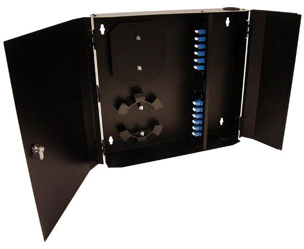 Fiber Wall Mount Enclosure, 24 Port, Single Mode LC Duplex