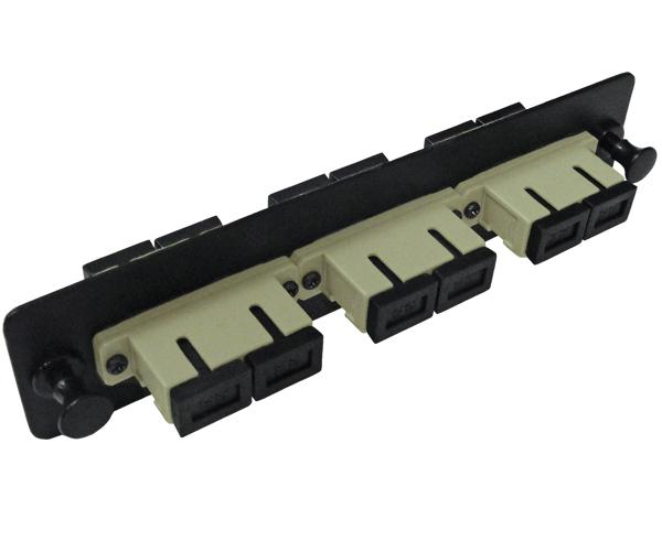 Fiber Adapter Plate, Multimode OM1, 3 SC Duplex Couplers