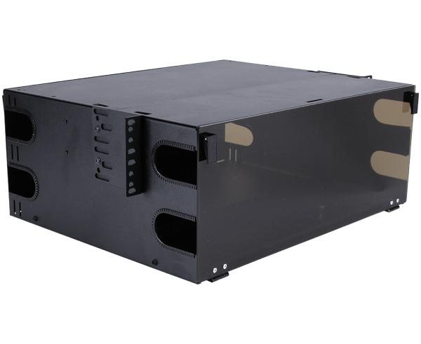 Rack Mount Fiber Distribution Patch Panel Enclosure, Slide-Out, FDU, 4U