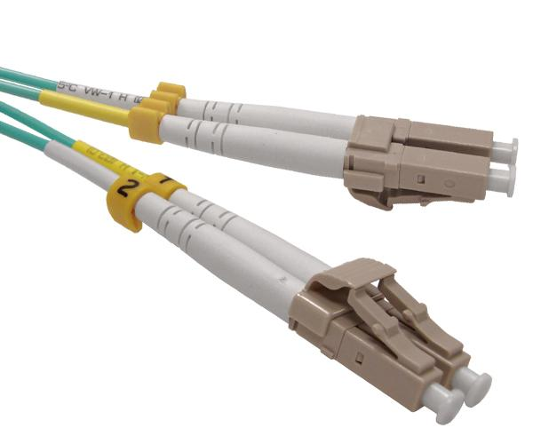 Fiber Optic Patch Cable, OM4, LC-LC, Multimode, 10 Gig, Duplex