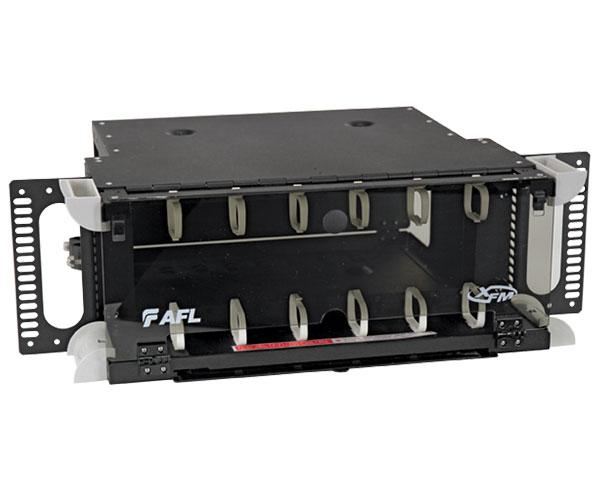AFL XFM Fiber Patch Panel, Fixed, 4U, 12 Adapter Panel Capacity