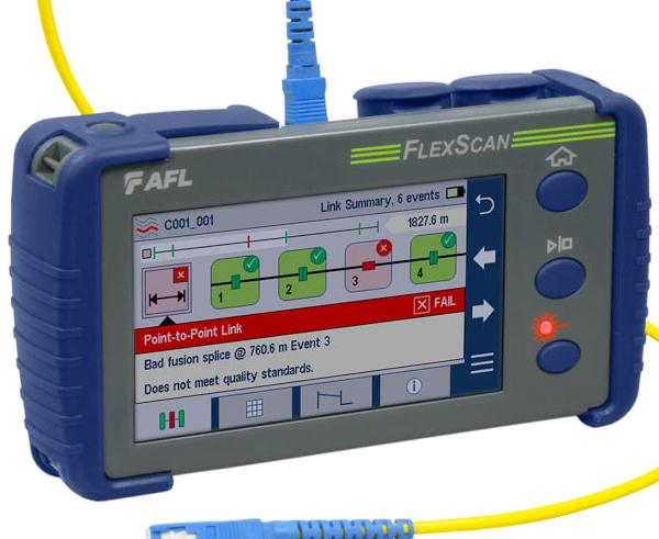 FlexScan OTDR With SmartAuto and LinkMap Fiber Optic Tester