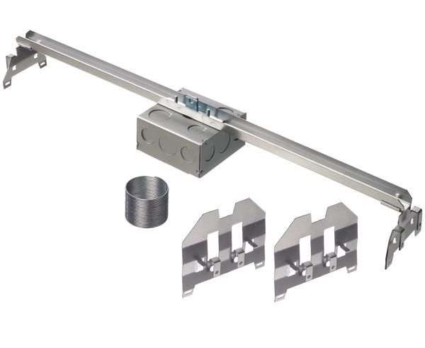 Square Electrical Fixture Junction Box with Adjustable Steel Bracket for Suspended Ceilings