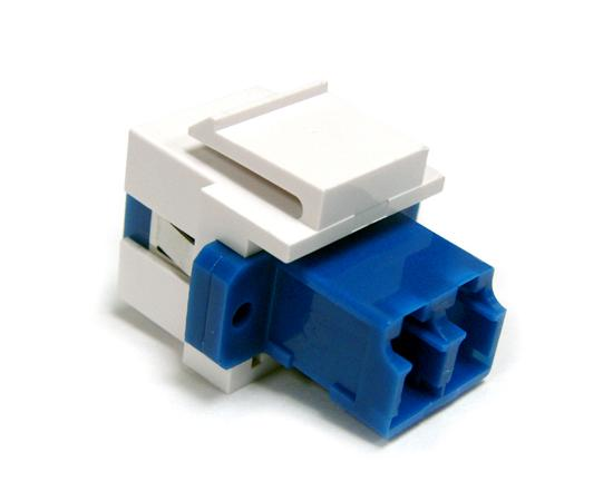 Fiber Modular Keystone Insert, LC Duplex Single Mode, White