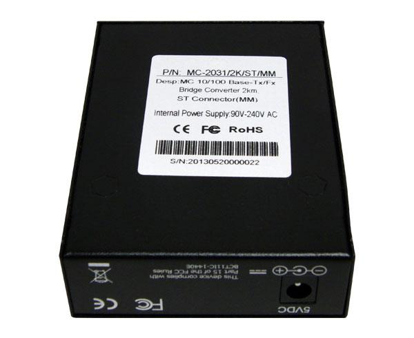 Media Converter, Single-Mode, Fast Ethernet, 20K, RJ45-Duplex SC