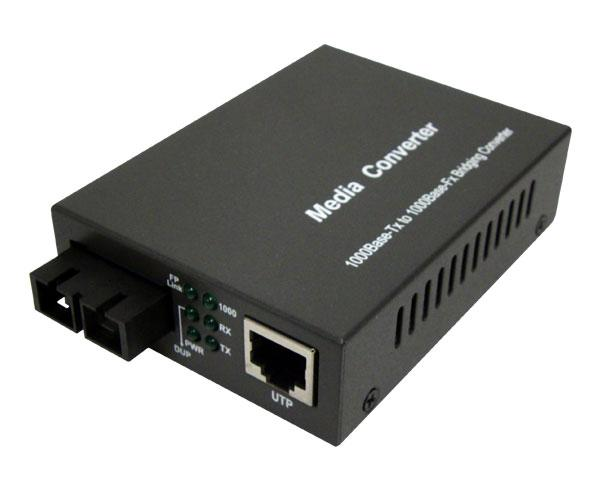 15KM 1000Base - LX/LH/T  Singlemode Media Converter SC/RJ45 Connectors