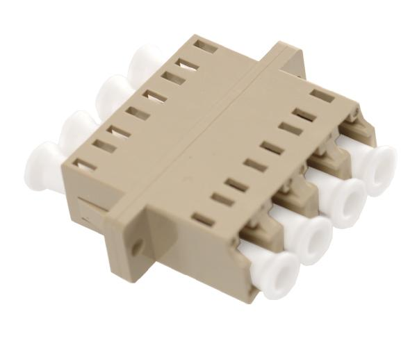 Fiber Optic Coupler, Multimode, LC/PC Quad Adapter with SC Duplex Foot Print