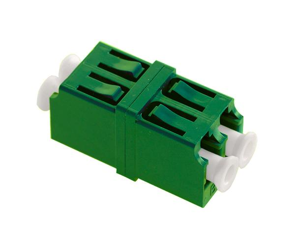LC/APC Duplex Single Mode Fiber Adapter/Coupler with LC Duplex Footprint