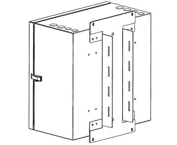 Pole Kit for FB23-3966WN4D12 NEMA Rated Wall Mount Enclosure