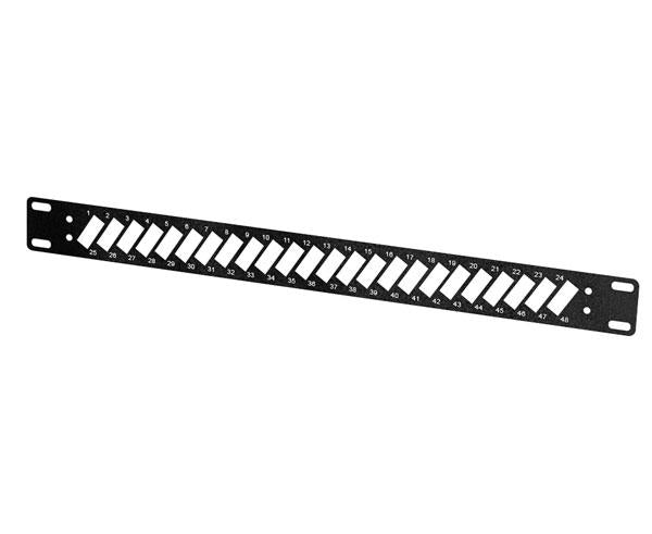 "19"" Patch Panel Bulkhead, 1RU, LC and SC Connector Slots"