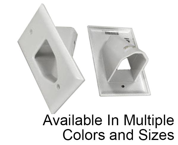 Recessed Low Voltage Cable Plate, Flush Mount 1, 2 & 3 Gang