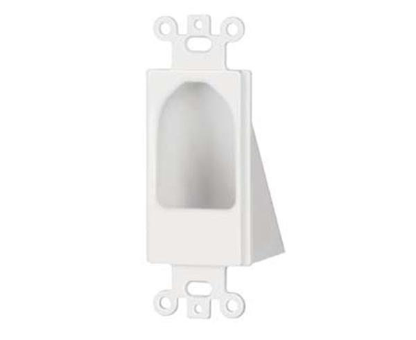 Decor Insert Single-Gang Reversible Cable Entry Device & Entrance Hoods in White or Ivory