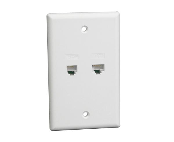 Integrated Voice & Data Wall Plate