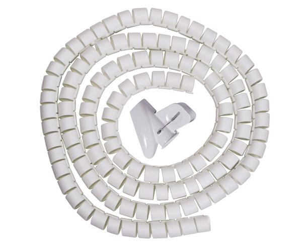 White Spiral Cable Zip Wrap