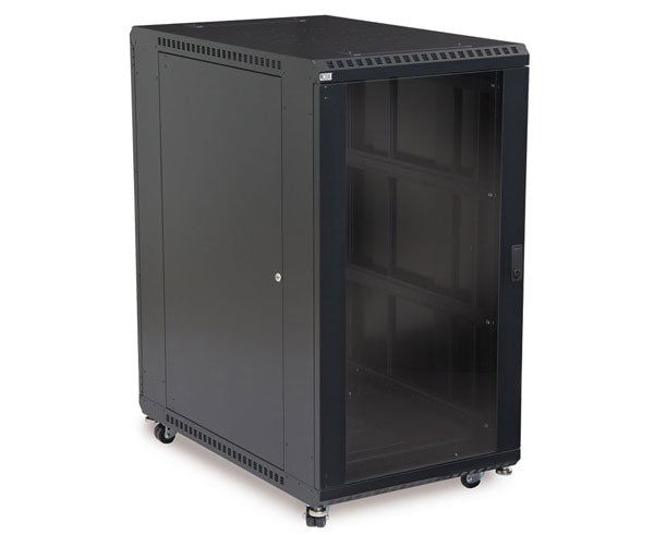 "Network Rack, Server Enclosure, Glass/Solid Doors, Up to 42U - 36"" Depth 1 of 6"