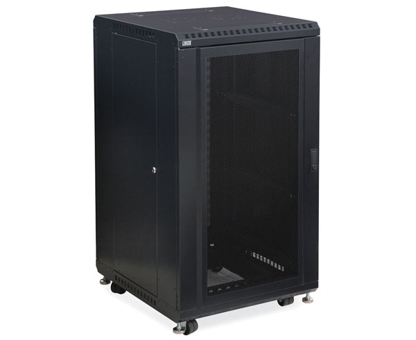 "Network Rack, Server Enclosure, Convex/Convex Doors - 22U, 27U, 37U & 42U - 24"" & 36"" Depth 1 of 6"