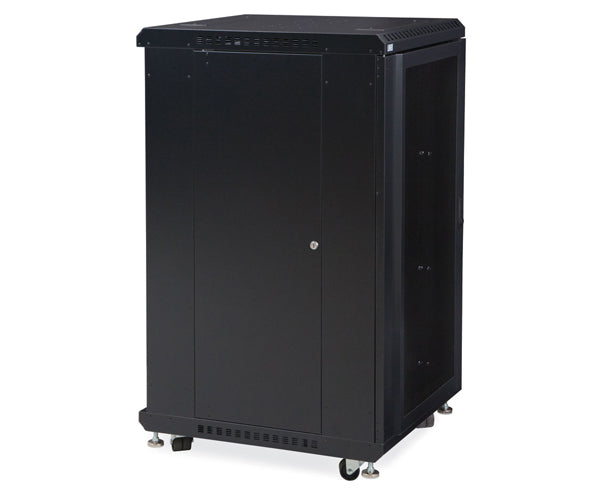 "Network Rack, Server Enclosure, Convex/Convex Doors - 22U, 27U, 37U & 42U - 24"" & 36"" Depth 2 of 6"
