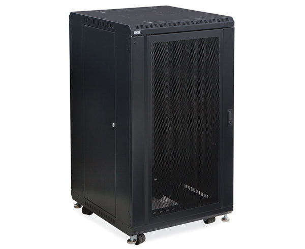 "Network Rack, Server Enclosure, Convex/Vented Doors - 22U, 27U, 37U & 42U - 24"" Depth 1 of 6"