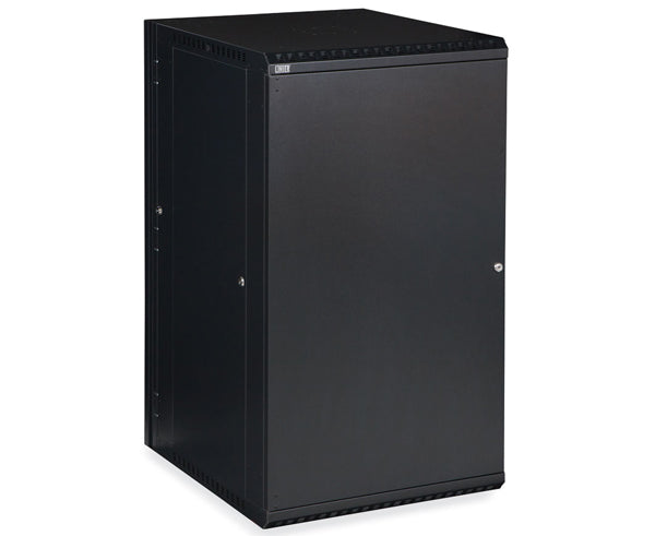 Network Rack, Swing-Out Wall Mount Enclosure, Solid Door - 22U