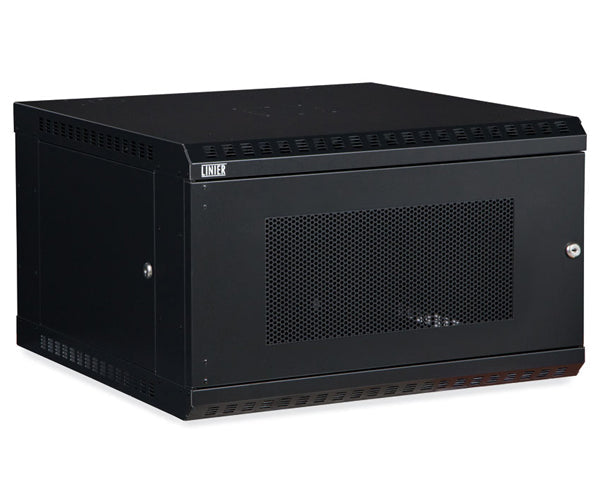Network Rack, Fixed Wall Mount Enclosure, Vented Door 6U 1 of 6