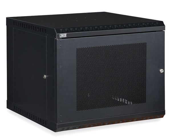 Network Rack, Fixed Wall Mount Enclosure, Vented Door 9U