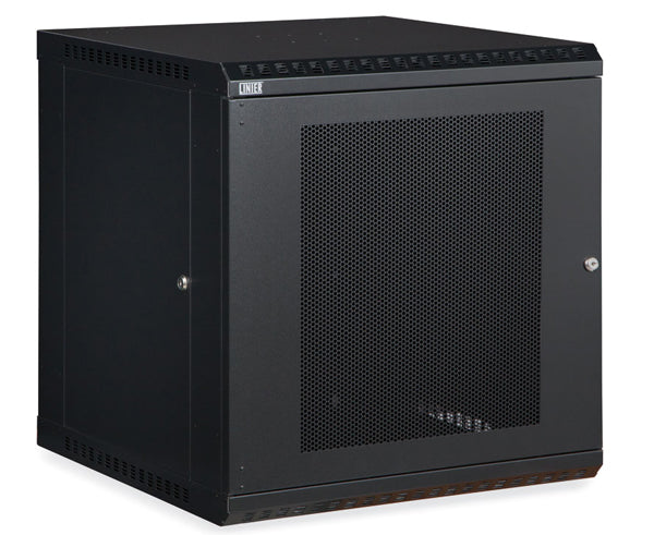 Network Rack, Fixed Wall Mount Enclosure, Vented Door 12U