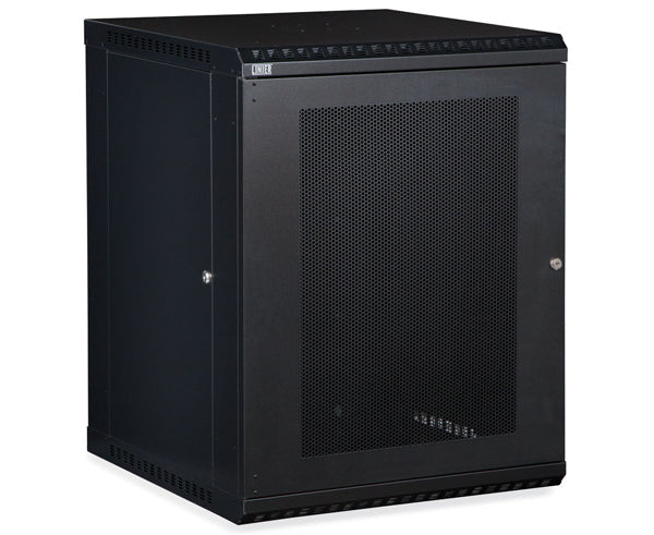 Network Rack, Fixed Wall Mount Enclosure, Vented Door 15U