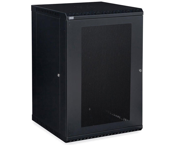 Network Rack, Fixed Wall Mount Enclosure, Vented Door 18U
