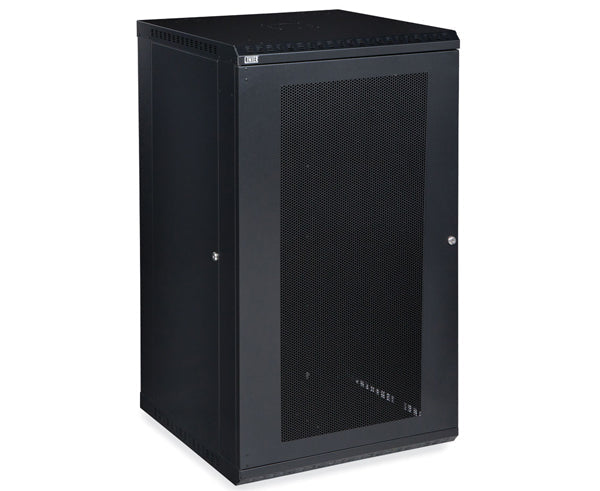 Network Rack, Fixed Wall Mount Enclosure, Vented Door 22U
