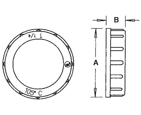 Plastic Insulating Bushings 105™ C Rated Diagram