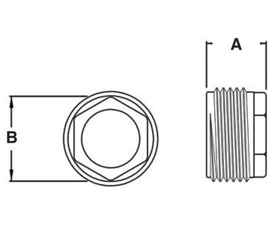 Metal Conduit Reducing Bushing - Zinc Die-Cast Diagram
