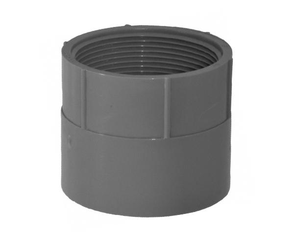 Schedule 40 Female Adapter, PVC Grey 5""
