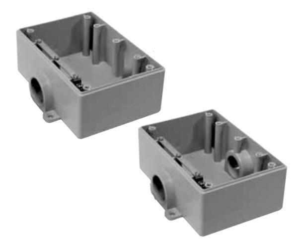 Triple Gang F-Series Shallow Boxes,