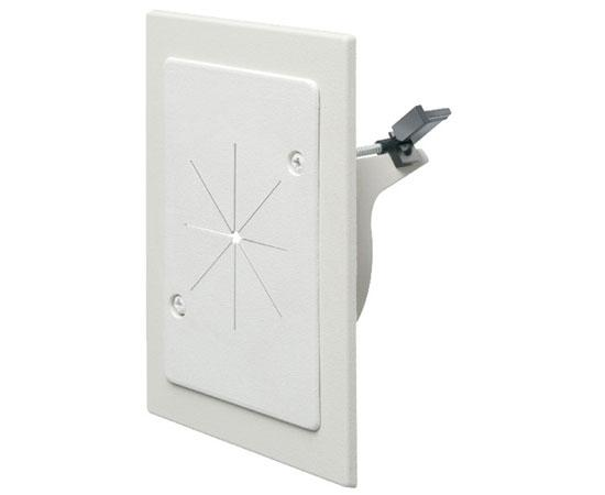 Cable Entry Bracket with Slotted Cover in Paintable White