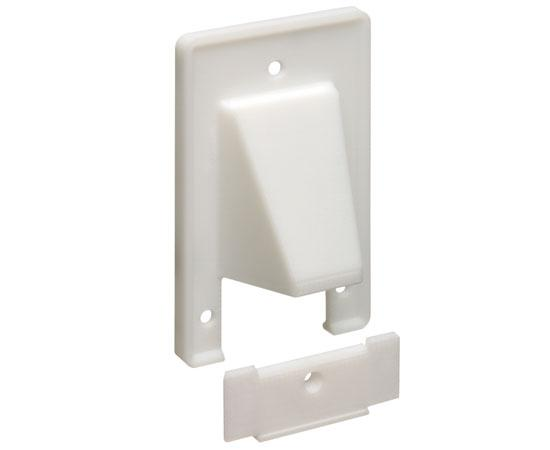'The SCOOP™' Entrance Plate with Removable Lower Plate, 1-gang - white