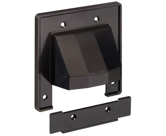 'The SCOOP™' Entrance Plate with Removable Lower Plate, 2-gang - black