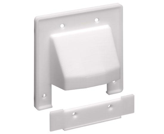 'The SCOOP™' Entrance Plate with Removable Lower Plate, 2-gang - white