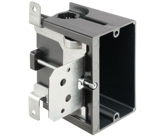 Single-Gang, Low Profile IN/OUT™ BOX in Adjustable PLASTIC Outlet Box - New Construction