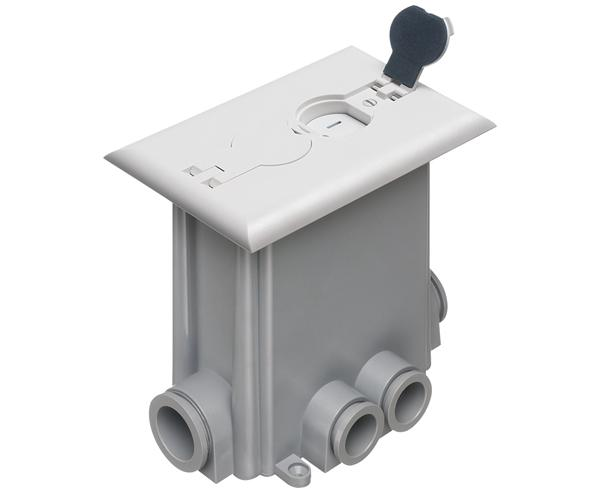 Floor Power Outlet Box w/ Flip Lids - Single Gang
