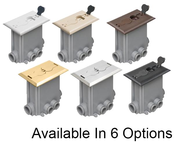 Non-Matalic & Metal Floor Boxes with Flip Lids for New Concrete Pours