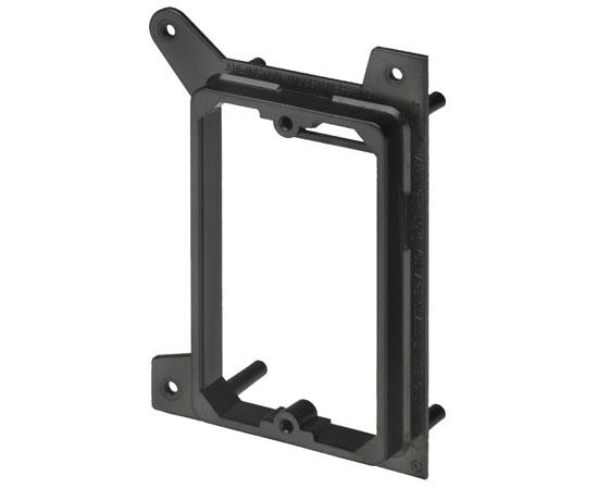 Single Gang New Construction Low Voltage Mounting Brackets, Black