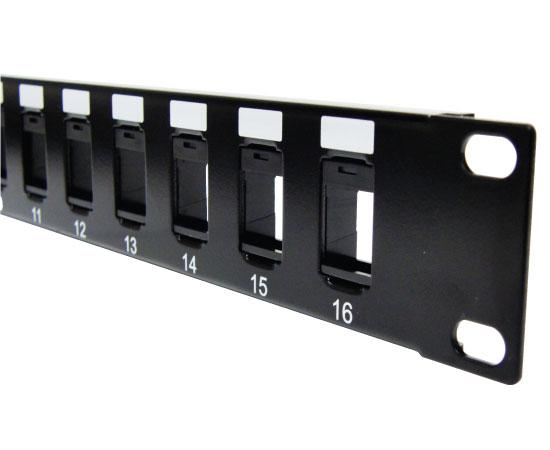 Blank Keystone Patch Panel, 16 Port / 24 Port / 48 Port High Density
