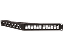 Blank Angled Patch Panel, Staggered, High Density, 24 Port, Unshielded, 1U