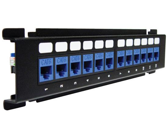 ICC Vertical HD Blank Patch Panel, front top 6 of 8