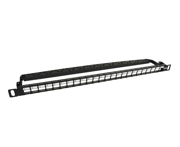 Ultra-High Density Blank Patch Panel, - 24-Port - 01