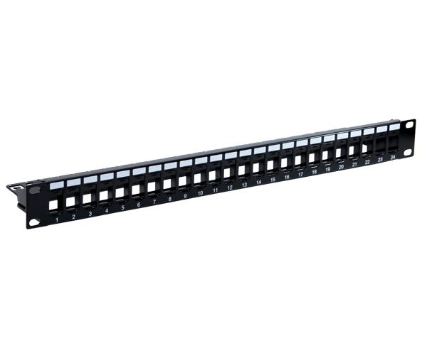 24 Port Blank Patch Panel with Support Bar_01