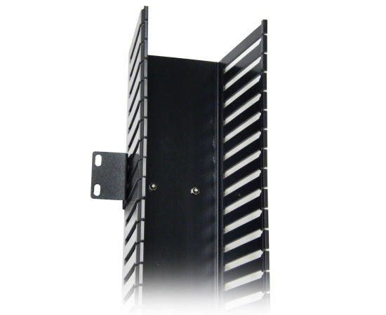 Vertical Slotted Duct Cable Manager w/ Cover, Single-Sided, Side-Mount