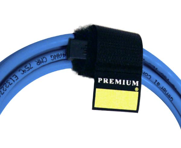 "Cable Wrap With Lock, 3 Pack, 1"" x 6.5"""